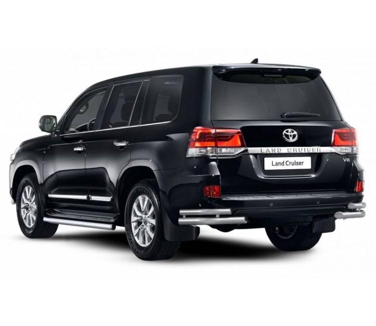 Защита порогов Ø63мм (под порог) для Toyota Land Cruiser 200