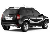 Защита порогов с накладками Ø63мм (нерж) Renault Duster