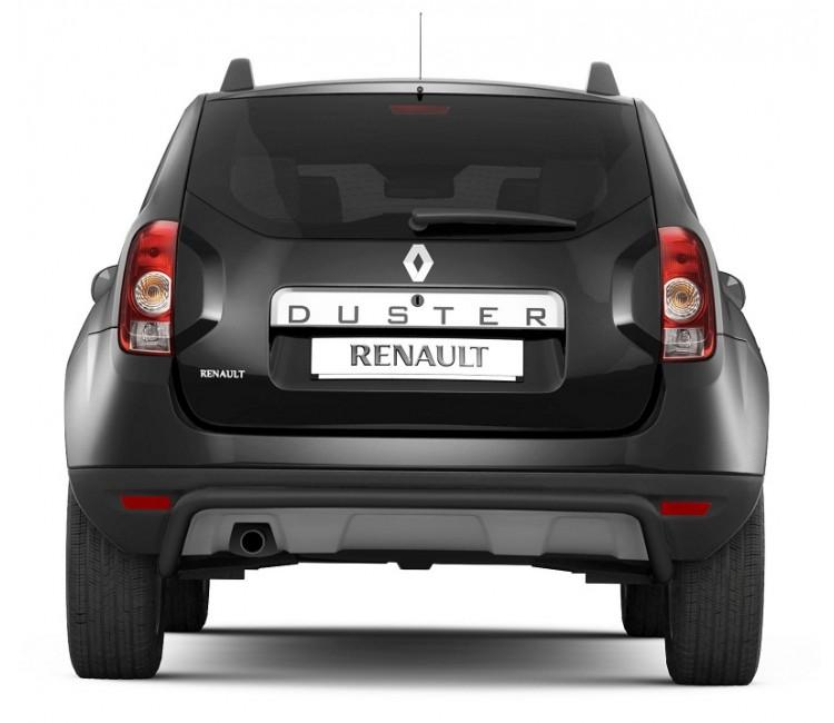 Защита заднего бампера Ø51мм (сталь покр) Renault Duster