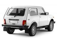 Защита порогов с накладками Ø76мм (ППК) Lada 4x4