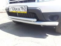 Защита переднего бампера двойная Ø51/63мм (сталь покр) Renault Duster