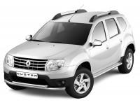 """Защита порогов с алюм. площ. """"Эстонец"""" d51мм (нерж) Renault Duster"""