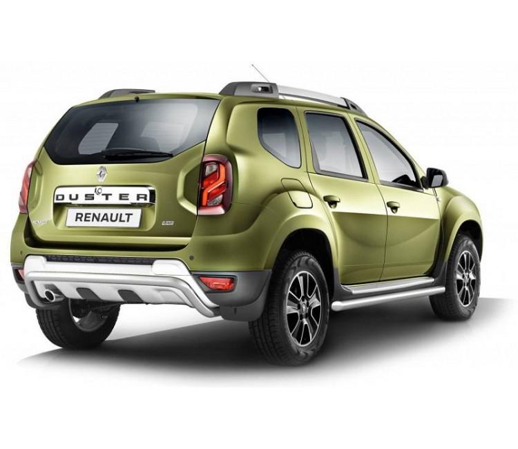 Защита порогов Ø63мм (нерж) Renault Duster