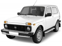 Защита переднего бампера одинарная Ø63мм (нерж) Lada 4x4
