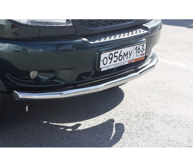 Защита переднего бампера одинарная Ø63мм (нерж) UAZ PATRIOT