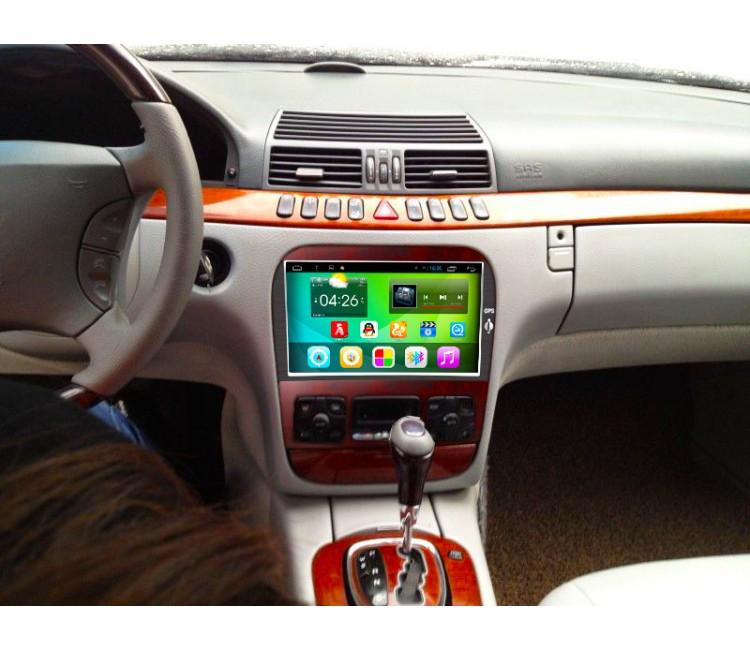 Штатное головное устройство для Mercedes-Benz W220 на OS Android 6.0.1